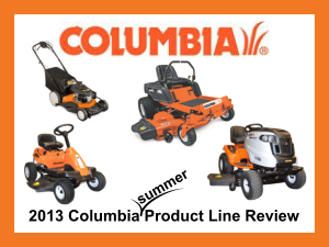 2013 Columbia Product Line PDF