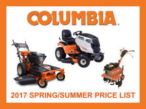 2017 Columbia spring/summer price list