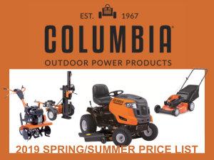 2019 Spring/Summer Columbia Price List