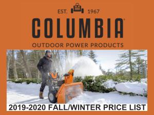 Columbia Winter 2018-2010