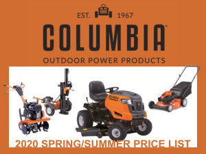 2020 Columbia Spring/Summer Price List